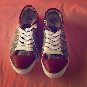 Worn designer sneakers